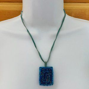 Jewelry - 6/$16 NWOT Leather and bead necklace